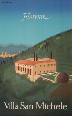 Villa San Michele travel poster