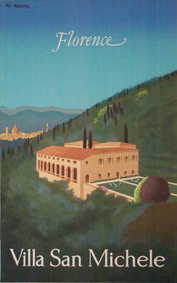 Villa San Michele travel poster