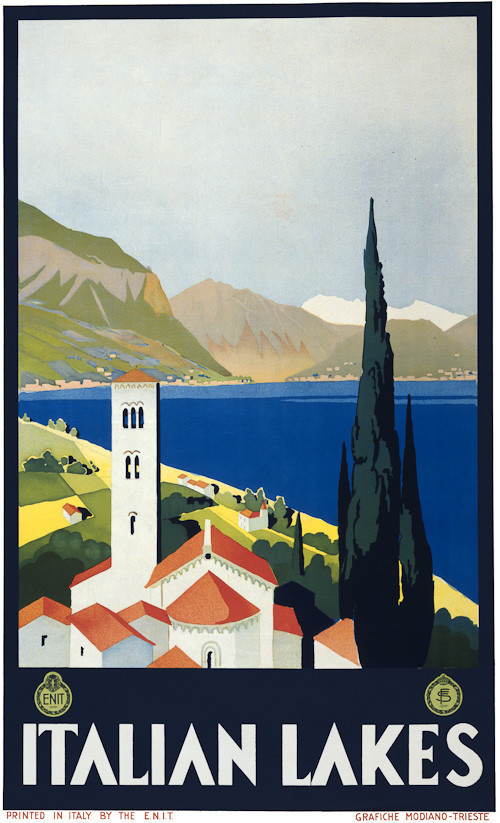 Vintage Florence Firenze Italian Tourism Poster A3 Print
